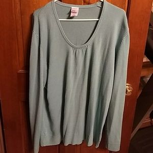 Plus 4x kind off robin blue sweater
